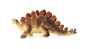 Side view brown stegosaurus toy Stock Photo