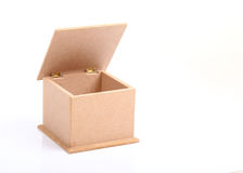 Side view of brown wooden box Stock Image