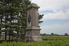 Side view the Brunswick monument near Quatre Bras