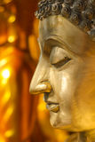 Side view Buddha face statue Royalty Free Stock Photography
