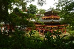 Side view Buddhist Temple Byodo-In. Stock Photography