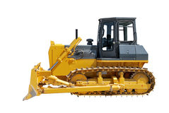 Side view of bulldozer on white Royalty Free Stock Image