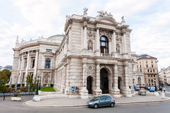 Side view of Burgtheater Vienna, Austria Stock Photography