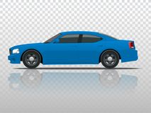 Side view of business sedan vehicle template vector  on transparent. View side. Change the color in one click. All elements in groups Stock Images