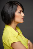 Side view of business woman looking forward Royalty Free Stock Photos