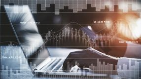 Trading and finance concept stock photography