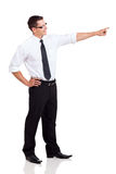Side view businessman pointing Royalty Free Stock Image