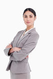 Side view of businesswoman with folded arms Stock Images