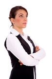 Side view of businesswoman looking upward Stock Photo