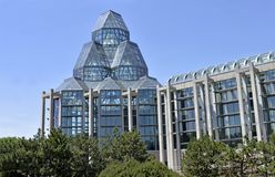 Side view of Canada`s National Art Gallery in downtown Ottawa royalty free stock images