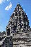 Side View of a Candi or Temple in Prambanan Temple Compounds Royalty Free Stock Photo