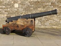 Side View of a cannon Stock Photography