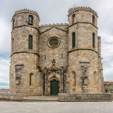 Side view at the Cathedral of Guarda - Portugal Royalty Free Stock Photography
