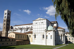 Side view of the Cathedral - Lucca Royalty Free Stock Photo