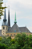 Side view of cathedral in Luxembourg Stock Photos