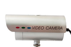 Side view of cctv camera for video surveillance Royalty Free Stock Image