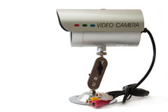 Side view of cctv camera for video surveillance Stock Photo