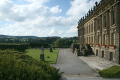 Side view Chatsworth house. Side view of chatsworth house from the gardens Royalty Free Stock Image