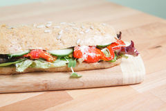 Side view of chicken salad sandwich Royalty Free Stock Photos