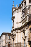 Side view of Church San Benedetto in Catania Royalty Free Stock Photos