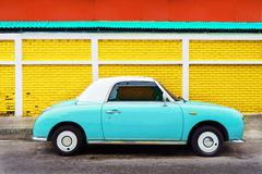 Side view of classic car parked on street in city Royalty Free Stock Images
