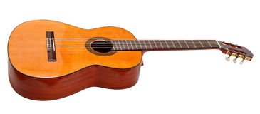 Side view of classical acoustic guitar Stock Photo