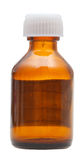 Side view of closed brown glass pharmacy bottle Royalty Free Stock Image