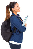 Side view college girl Royalty Free Stock Photo