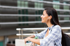 Side view college student Royalty Free Stock Images