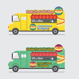 Side View Colorful Food Truck. Stock Photo