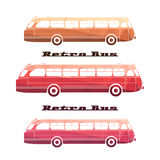Side view of colorful silhouettes of retro bus Stock Photo