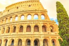 Sunset Colosseum Rome Stock Photos
