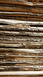 Side view of  corrugated cardboard pile in a factory Royalty Free Stock Image