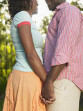 Side View Of Couple Holding Hands Stock Image