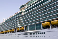 Side view of cruise ship Royalty Free Stock Image