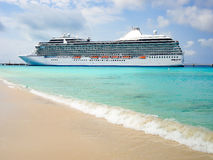 Side view of luxury cruise ship in the Caribbean Stock Images