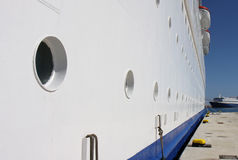 A side view of a Cruise ship and Portholes Royalty Free Stock Photo