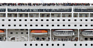 Side view of a cruising-ship Stock Images