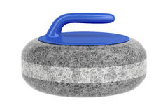 Side view of curling stone Stock Photos