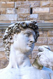 The side view of the David sculpture head in Florence Stock Image