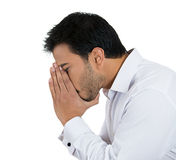 Side view, depressed Royalty Free Stock Photo
