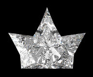 Side view of diamond crown over black Stock Photography