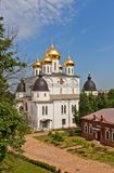 Side view of  Dormition Cathedral (1512) in Dmitrov, Russia Stock Photo