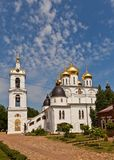 Side view of  Dormition Cathedral (1512) in Dmitrov, Russia Stock Images