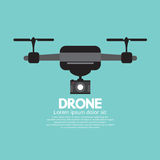 Side View Of Drone. Vector Illustration Stock Photos