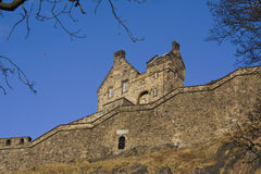 Side view of the Edinburgh Castle, Scotland Royalty Free Stock Photography