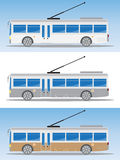 Side view of Electric bus or Trolley bus Stock Photography
