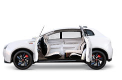 Side view of electric SUV concept car Royalty Free Stock Image