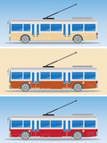 Side view of Eletric bus or Trolley bus Royalty Free Stock Image