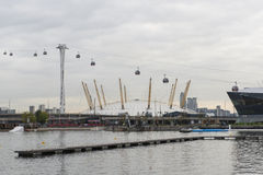 Side view of Emirates Air Line cable car Stock Photo